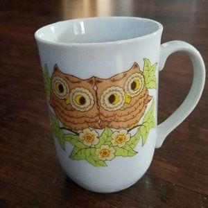 Vintage Otagiri Owls In Tree Mug